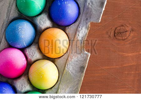 Fun Traditional Vibrant Hand Dyed Easter Eggs