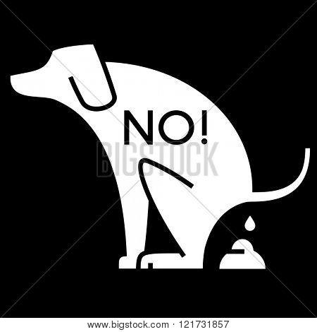 no dog pooping cutout sign