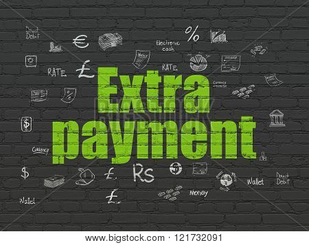 Banking concept: Extra Payment on wall background