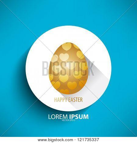 easter egg isolated heart design