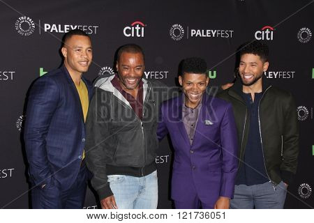 LOS ANGELES - MAR 11:  Trai Byers, Lee Daniels, Bryshere Y. Gray, Jussie Smollett at the PaleyFest Los Angeles - Empire at the Dolby Theater on March 11, 2016 in Los Angeles, CA