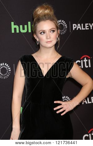LOS ANGELES - MAR 12:  Billie Lourd at the PaleyFest Los Angeles - Scream Queens at the Dolby Theater on March 12, 2016 in Los Angeles, CA