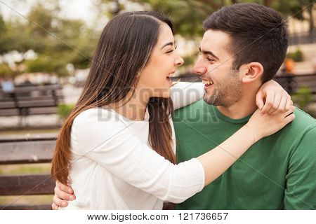 Beautiful Couple Having Fun Together