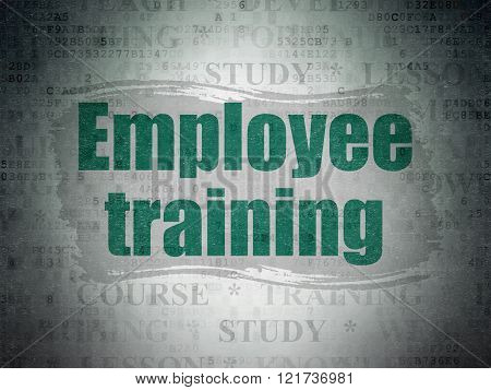 Learning concept: Employee Training on Digital Paper background