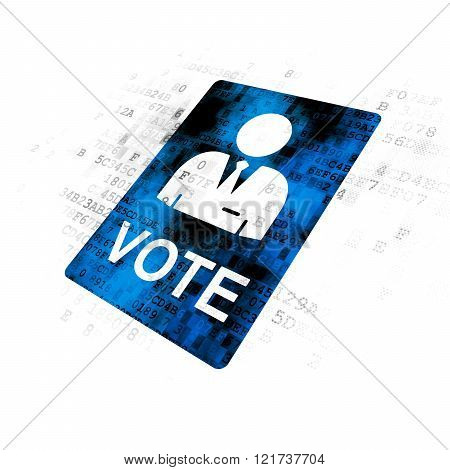 Politics concept: Ballot on Digital background