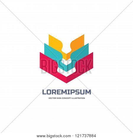 Abstract vector logo - creative concept illustration. Business vector logo template.