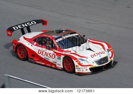SEPANG, MALAYSIA - JUNE 21: The Denso Dunlop Sard SC430 (39) in action during the Super GT International Series Round 4 race. June 21, 2010 in Sepang Malaysia.