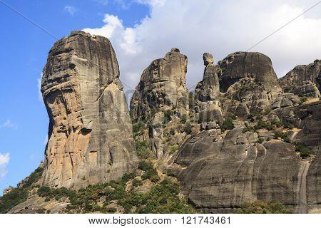 Rock formation in Meteora of Kalambaka, Greece