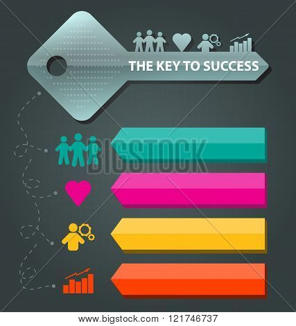 Key To Success Concept Background Template