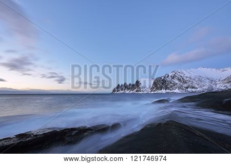 Tungeneset Beach At Sunset? Senja Island, Troms County