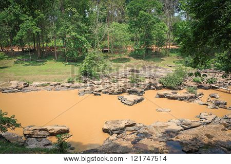Mud River With Rock