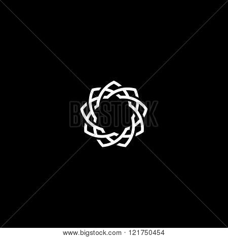Geometric design flower, Photo frame template