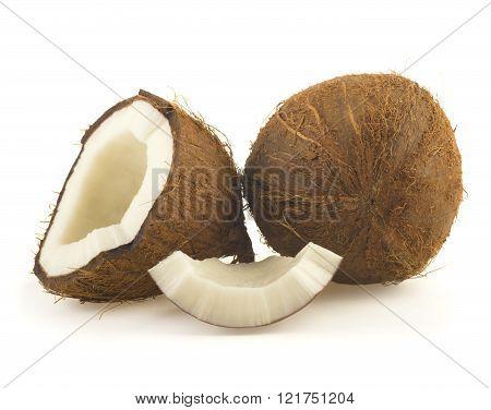coconut cut in half
