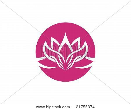 Stylized lotus flower icon