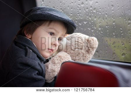 Sweet Little Boy, Riding In A Bus, Daytime