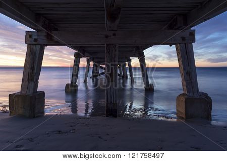 Sunset From Under The Normanville Jetty