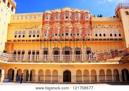Jaipur, India - February 27: Unidentified People Visit Hawa Mahal On February 27, 2011 In Jaipur, In