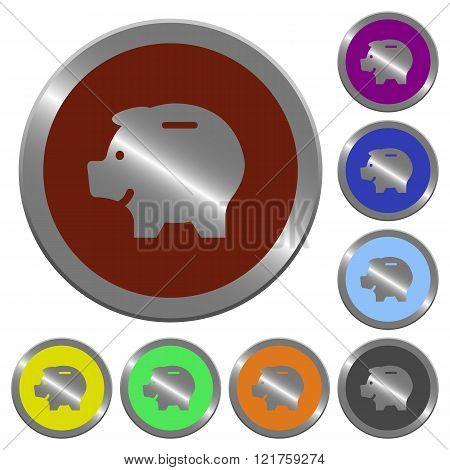 Color Piggy Bank Buttons