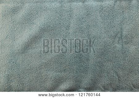 Olive Green color Texture of microfiber Cloth for the design background.
