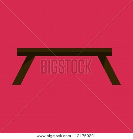Black Table in living room flat icon