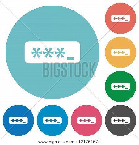 Flat Typing Password Icons
