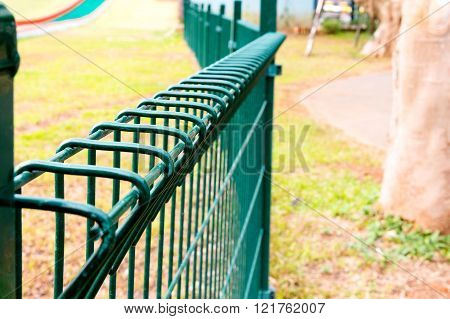 Wired Fence In Park