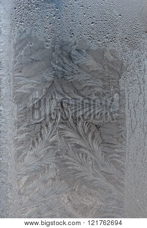 drawings frost on winter glass village house