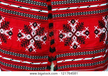 Belorussian Woven Towels With Bright Traditional Pattern