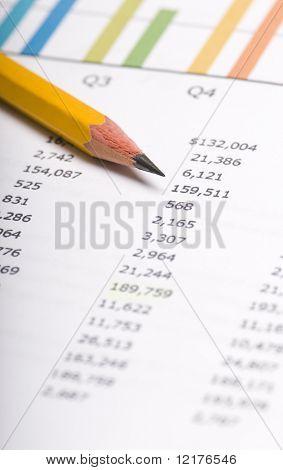 gráfico de negocios que muestra éxito financiero en el mercado de valores