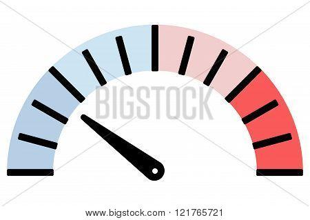 Measuring device temperature scale icon