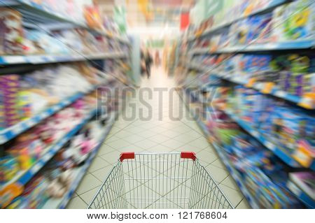Supermarket Aisle Motion Blur