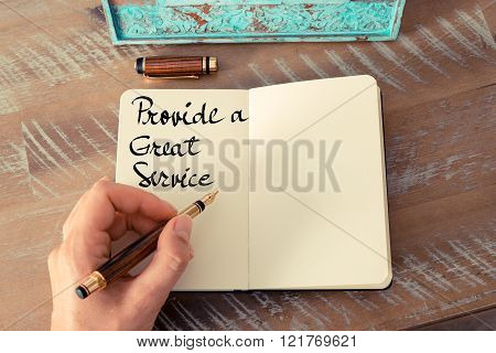 Written Text Provide A Great Service