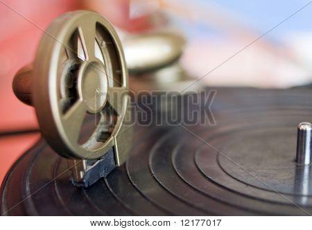 Close up photo of vintage gramophone