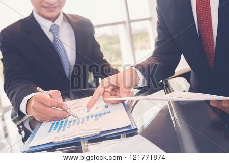 Discussing report