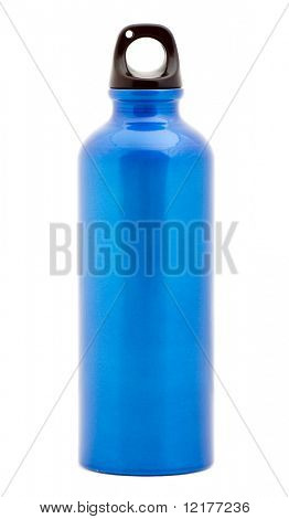 Stylish Water Bottle isolated on white