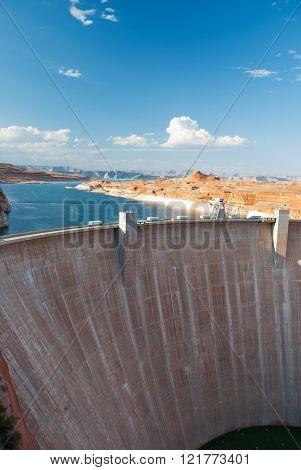 Glen Canyon Dam Lake Powell, Arizona.