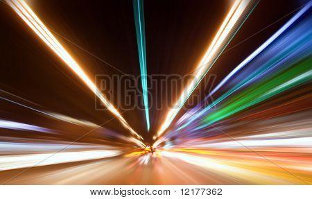 Abstrakte farbige Licht in der Nacht