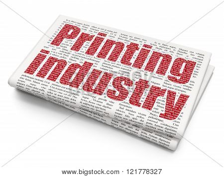 Industry concept: Printing Industry on Newspaper background