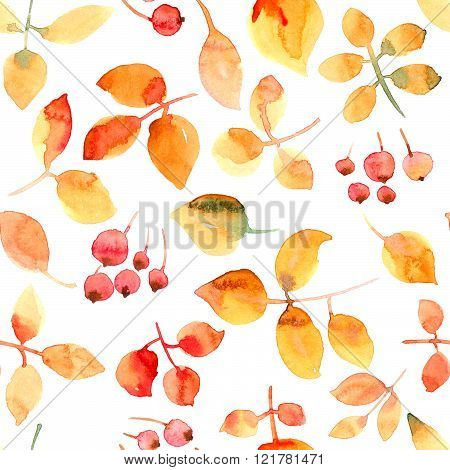 Flying Leaves And Berries