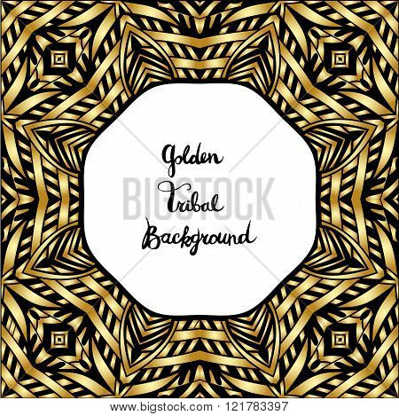 Black And Gold Tribal Border