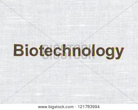 Science concept: Biotechnology on fabric texture background