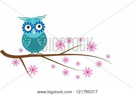 Blue Owl Cartoon
