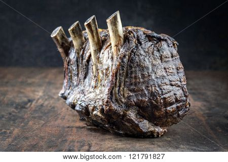Dry Aged Barbecue Rib Roast