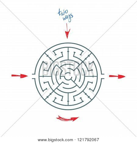 Round Maze With Arrows