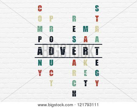 Advertising concept: Advert in Crossword Puzzle