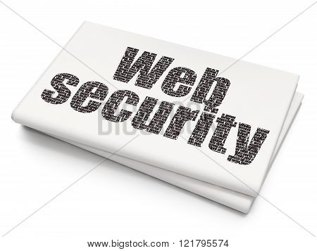Web design concept: Web Security on Blank Newspaper background