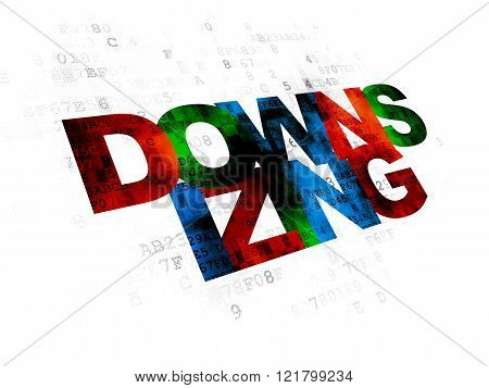 Business concept: Downsizing on Digital background
