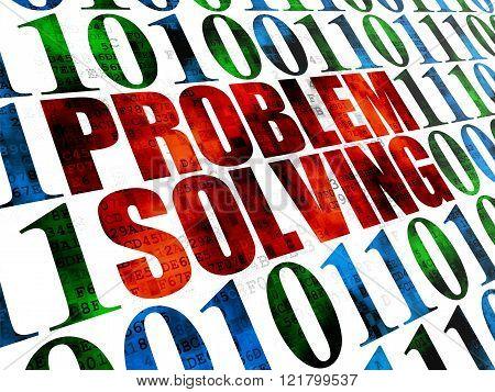 Finance concept: Problem Solving on Digital background