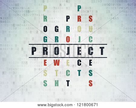Business concept: Project in Crossword Puzzle