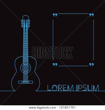Guitars silhouette